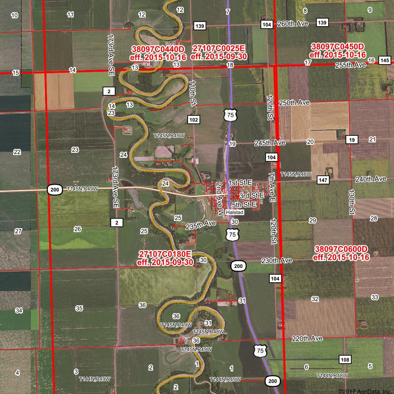 FEMA Flood Zone FIRM Panels - Digital flood insurance rate map